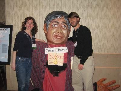 Barbara & Aaron with Cesar Chavez